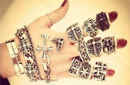 克罗心戒指 指环 手链等