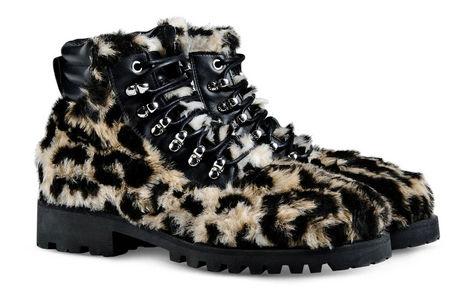Moschino新款豹纹鞋