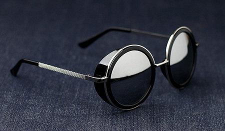 银鳞堂 原宿复古风飞行员圆型眼镜