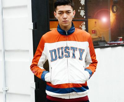 香港潮牌DUSTY男士潮流拼色夹克