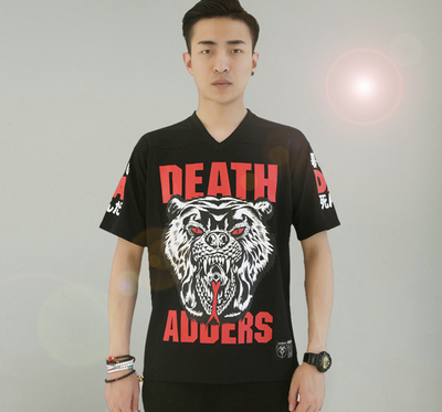 美国街牌Mishka美版DEATH ADDERS熊头T恤