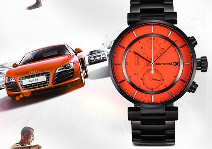 三宅一生Issey Miyake奥迪设计灵感的W系列腕表