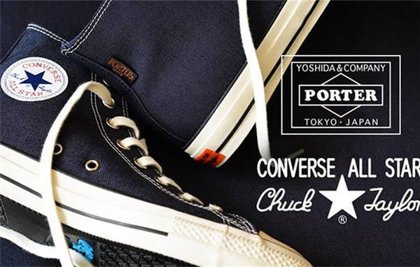 PORTER x Converse 联名公布 Chuck Taylor All Star 系列潮流鞋款