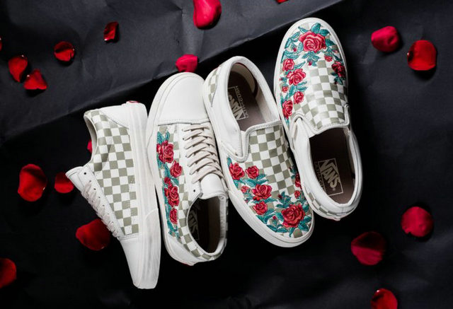 Vans DX 公布 2018 春季 Rose Embroidery 系列,玫瑰花 x 棋盘格的联名?