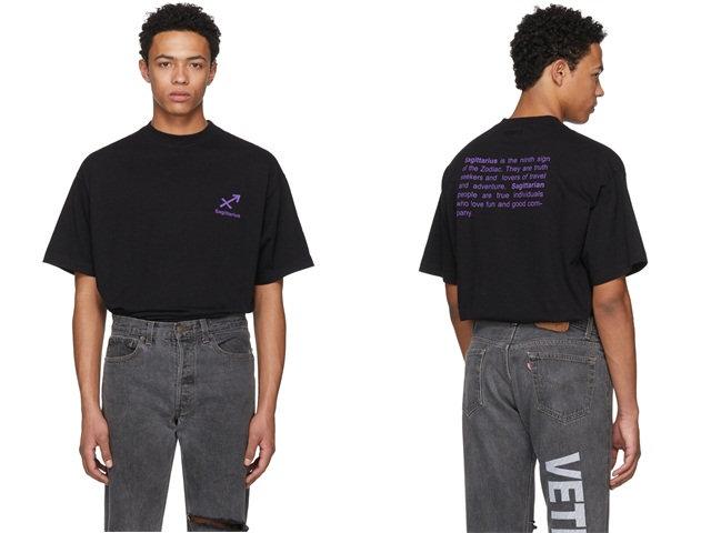 法国潮牌 Vetements 推出星座印花 T-Shirt 系列,12 星座标识俱全