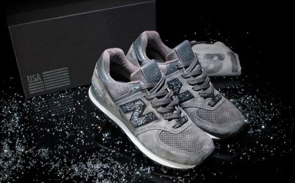 12种奢华之选!New Balance 574 推出施华洛世奇水晶定制鞋款