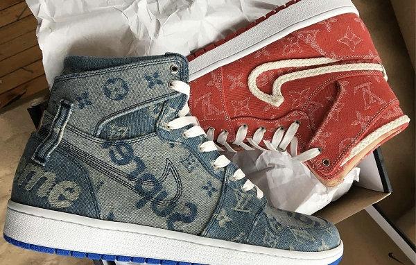 Louis Vuitton x Nike Air Jordan 1 客制鞋款释出,Supreme 也来凑热闹!