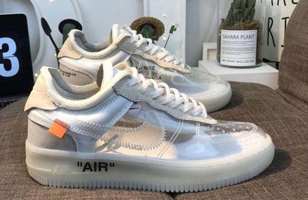 Virgil Abloh x Air Force 1联名透明鞋款细节曝光,让人无法自拔?