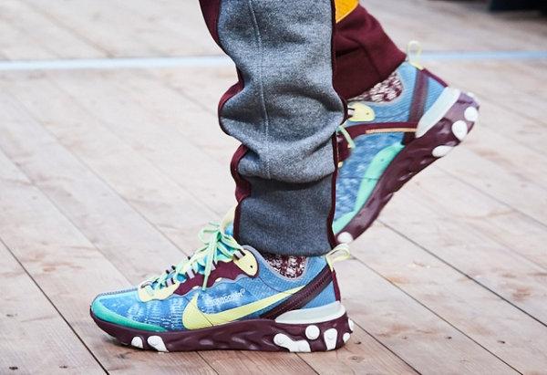 高桥盾UNDERCOVER x Nike React Element 87联名鞋款重磅来袭!上脚图率先近赏~