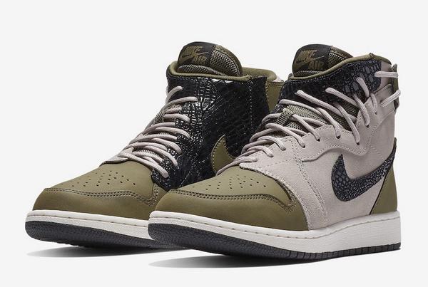 "Air Jordan 1 Rebel XX""Olive Canvas""女生军事风鞋款,霸气发售!"