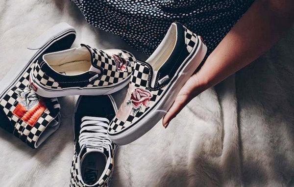 Vans 新品刺绣丝绸补丁鞋款现已发售!是跟 Supreme 同玩中国风?