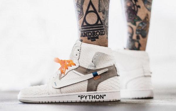 高配版 Virgil Abloh x Air Jordan 1 鞋款来袭,机不可失~