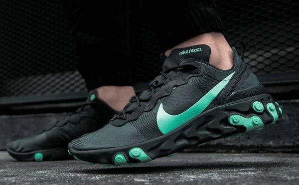 全新黑武士,Nike React Element 55 鞋款上脚欣赏
