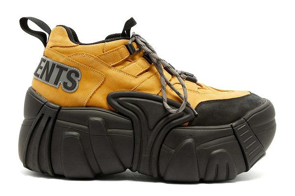 法国潮牌 VETEMENTS x SWEAR 2018 联名厚底鞋款发售,造型极其夸张