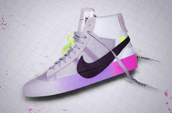 补货?OFF-WHITE x Nike Blazer 联名渐变色鞋款全球再次开售