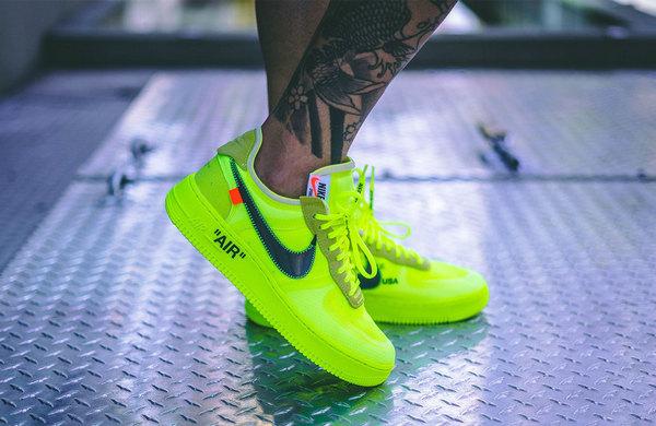 Off-White x Nike 联名 Air Force 1 鞋款全新配色「Volt」释出~