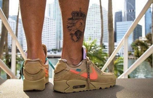 OFF-WHITE x Nike Air Max 90 联名鞋款沙漠配色上脚美图赏析