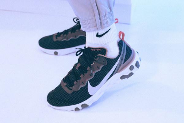 size x Nike React Element 55 联名鞋款独占配色发售在即
