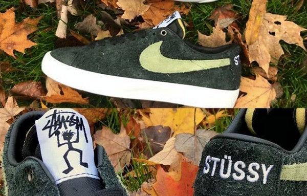 timeless design c526d a994b 美潮Stussy x Nike SB 联名Zoom Blazer Mid 鞋款本周发售~-美乐 ...