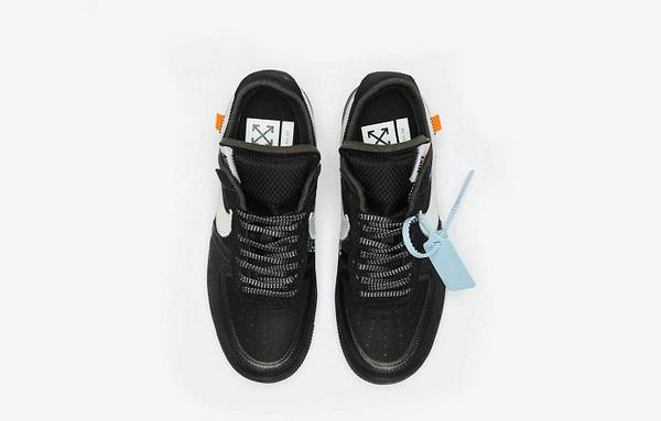 发售倒计时,Off-White x Air Force 1 联乘鞋款黑色版本完整释出~