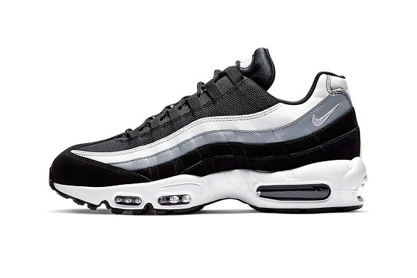 "Nike Air Max 95 鞋款""Black/Wolf Grey/White""配色版本即将登场~"