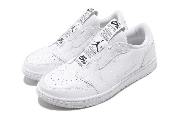 女生专属!Air Jordan 1 Low 免鞋带款黑/白配色系列来袭~