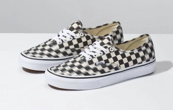 """眩晕式格纹?Vans 2019 Authentic""""Blur Check""""鞋款上市"""