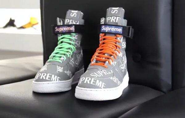 这双客制真帅!Supreme x Nike SF-AF1 联乘客制鞋款曝光!