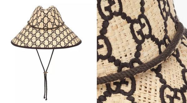 Gucci 推出全新 GG Raffia 宽沿草帽,售价上千美元!