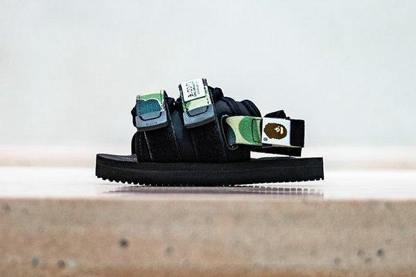 日潮 Bape x SUICOKE 全新联名系列凉鞋发售在即~
