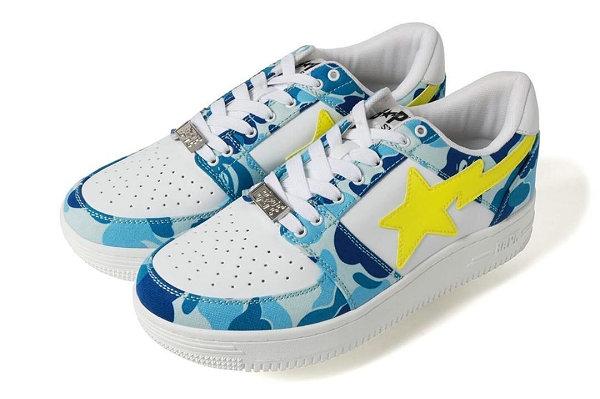 Bapesta 鞋款 2019 迷彩版本上市,对比色 Sta LOGO 吸睛