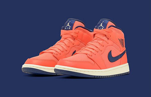 "Air Jordan 1 Mid 鞋款""Turf Orange""女生专属配色曝光"