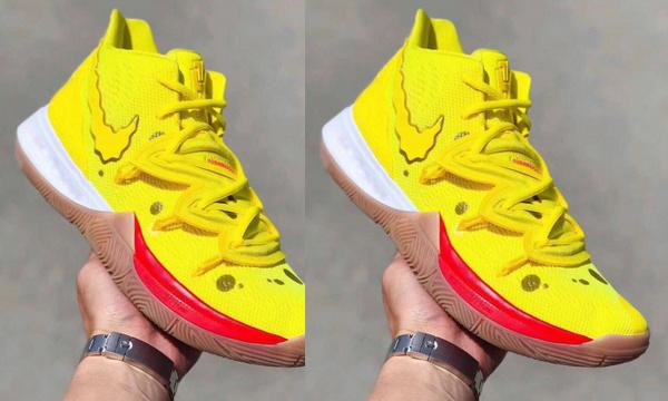 Nike X《海绵宝宝》联手打造 Kyrie 5 鞋款,撞脸海绵宝宝?