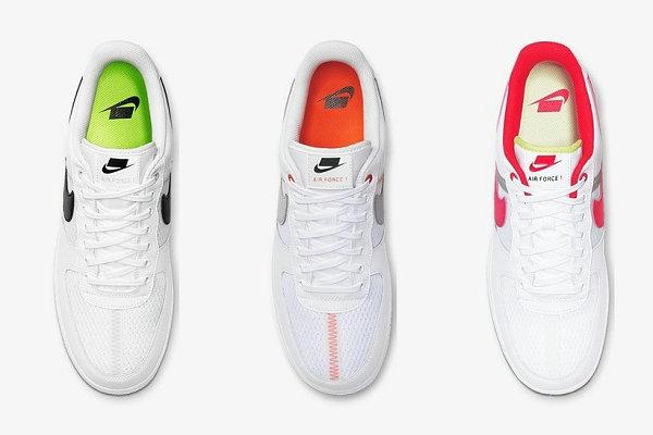 Nike Air Force 1 鞋款全新透气版本上架发售,荧光色点缀