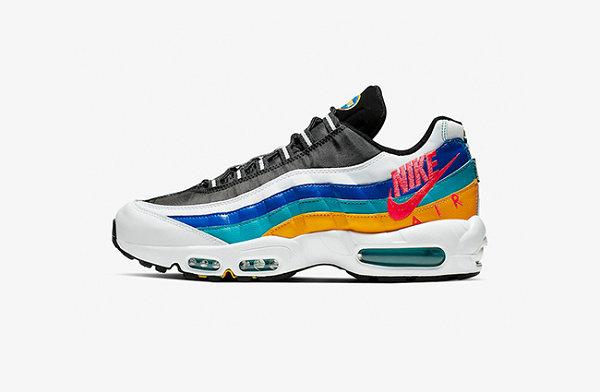 Air Max 95鞋款多彩波浪配色释出,灵感源自80、90s复古风衣?