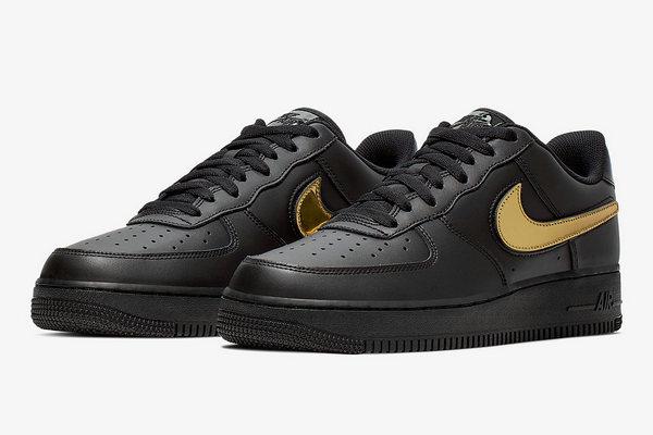 Nike Air Force 1鞋款全新黑金配色即将登场,依旧经典