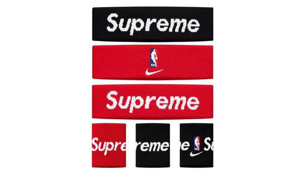 Supreme x Nike x NBA 三方联名配件系列本周发售,经典 logo 加持