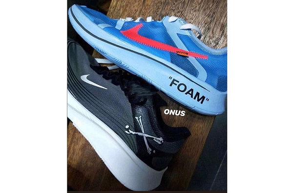 美潮 Off-White x 耐克 ZOOM V2 联名鞋款蓝 & 黑配色曝光