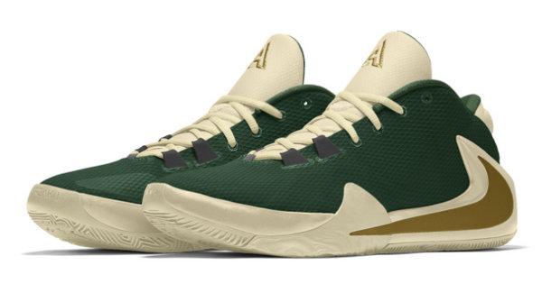 "Nike Zoom Freak 1 By You 鞋款个性定制上线,与 ""字母哥"" 穿同款"