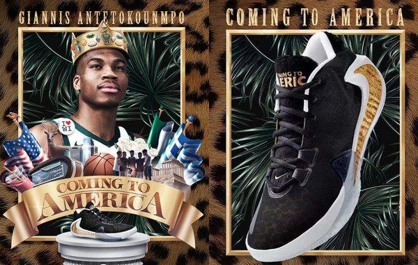 字母哥 Nike Zoom Freak 1 黑金豹纹配色鞋款即将发售,还有配套服饰