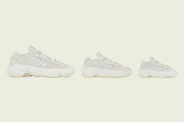 "Yeezy 500 鞋款全新""Bone White""配色发售详情正式公布"