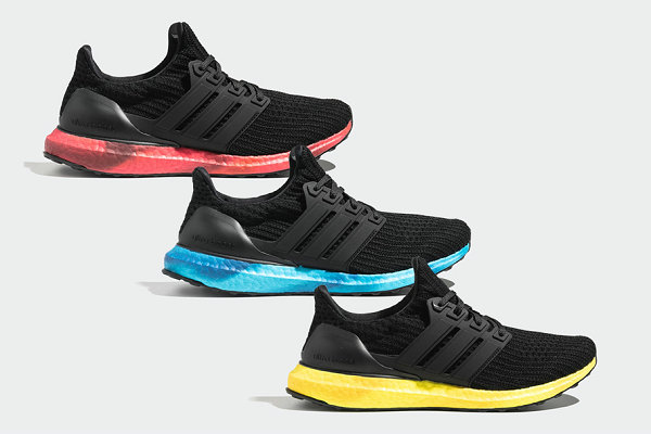阿迪达斯 Ultraboost 4.0 鞋款彩色中底系列曝光,颜值超高