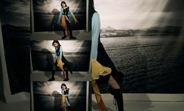 古力娜扎身穿 JW Anderson 连衣裙登上《精彩OK 》九月刊封面故事