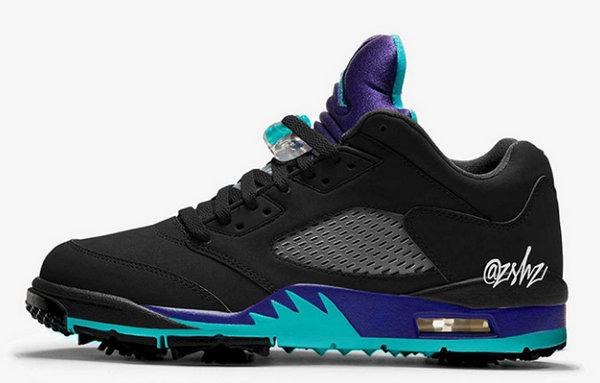 Air Jordan 5 Low Black/Grape 配色鞋款,黑紫葡萄袭来~