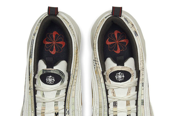 Air Max 97 鞋款全新米白配色释出,旧报纸图案加持