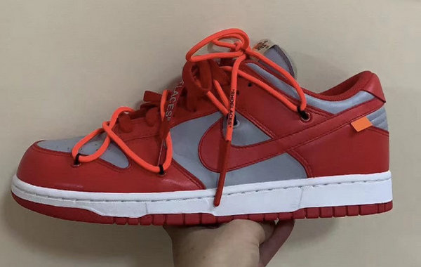 OFF-WHITE x NIKE SB Dunk Low 联名「University Red」配色鞋款曝光
