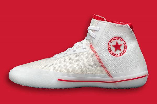 匡威 All Star Pro BB 白红配色篮球鞋即将登场,清爽质感