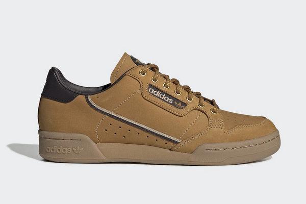阿迪达斯三叶草 Continental 80 复古鞋款全新小麦配色释出