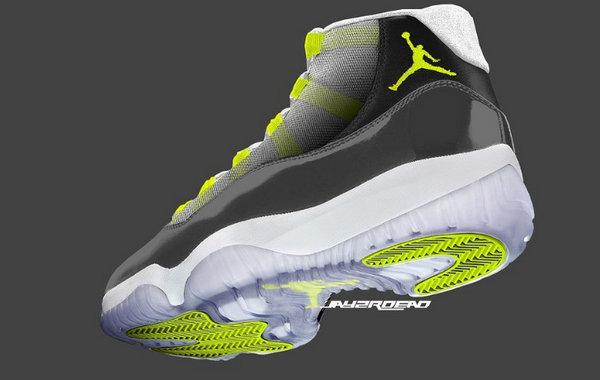 """Air Jordan 11""""Neon""""新配色鞋款首度曝光,""""经典""""中的经典!"""