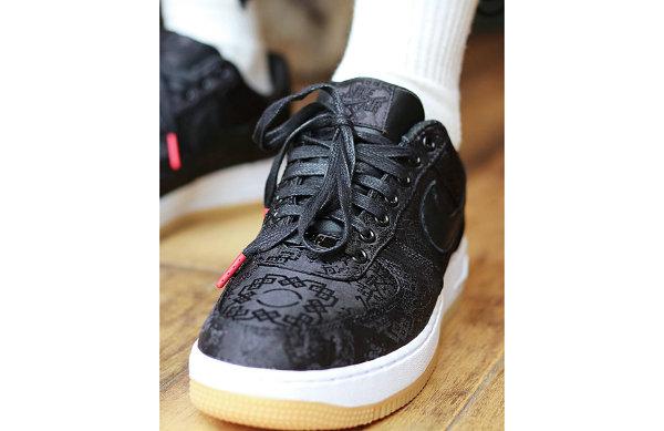 CLOT黑丝绸上脚图来了!这双三方联名黑丝绸鞋上脚真的炸~